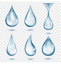 Translucent gray drops vector