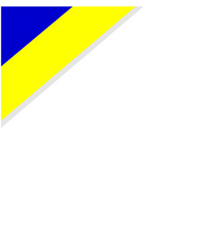 ukrainian yellow blue flag corner frame vector image