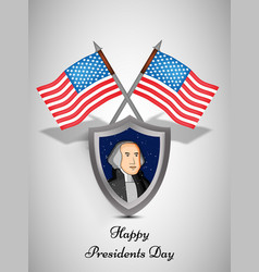 usa presidents day background vector image