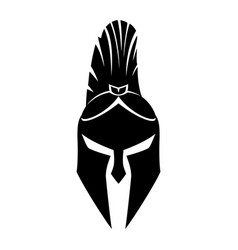 Warrior helmet sign vector