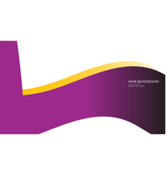 wave background with purple and yellow color vector image