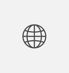 Web earth globe line flat isolated icon vector