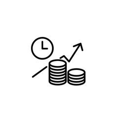 web line icon business idea the increase vector image