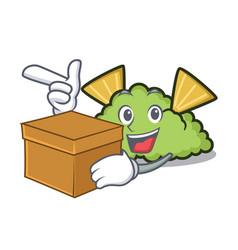 With box guacamole character cartoon style vector