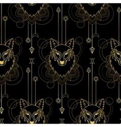 Wolf geometric seamless pattern vector image