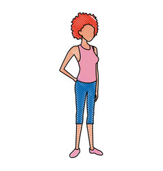Woman cartoon character young girl casual vector