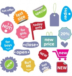 30 web office buttons vector vector image