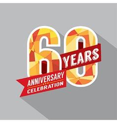 60th Year Anniversary Celebration Design vector image