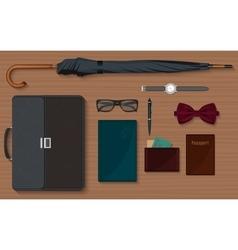 Gentlemen stuff design elements collection set vector image