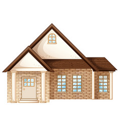 house builded with brick stones vector image vector image