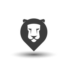 lion head pointer icon vector image