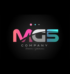 mgs m g s three letter logo icon design vector image