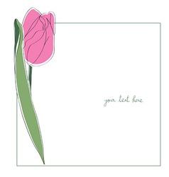 tulip minimal card vector image
