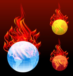 world burn vector image vector image