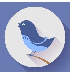 Bird singing icon Flat design style vector image