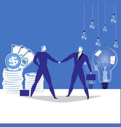 business partnership concept vector image