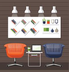 modern interior room vector image