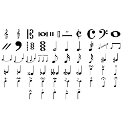 Musical symbols and notes vector image vector image