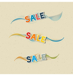 Sale Icons on Recycled Paper Background vector image