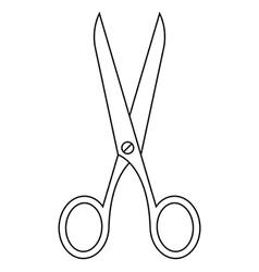Scissors symbol vector image