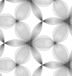 Slim gray hatched thick and thin trefoils vector image vector image