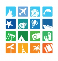 travel and vacation icons vector image