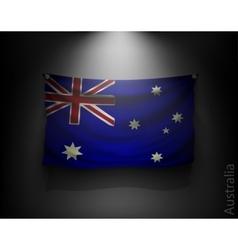 waving flag australia on a dark wall vector image