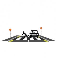 zebra crossing reckless driver vector image vector image