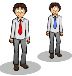 Boy standing cute drawing expression friendly vector image vector image