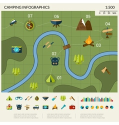 Camping Infographics Set vector image vector image
