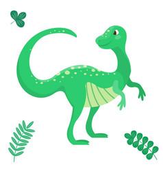 cartoon dinosaur seamless vector image vector image