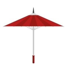 cartoon umbrella traditional japanese icon vector image