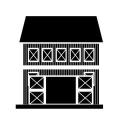 farm barn house vector image