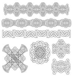 Medieval decoration set vector image vector image