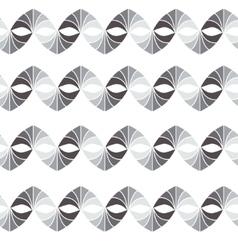 retro geometric seamless pattern in grey vector image vector image