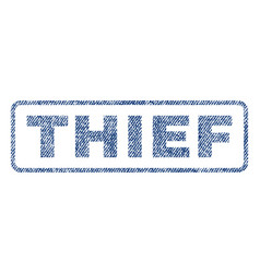 thief textile stamp vector image vector image