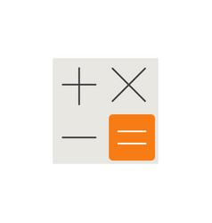 calculator flat icon accounting symbol vector image