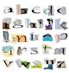 collage letters vector image vector image