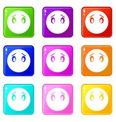 emoticons 9 set vector image