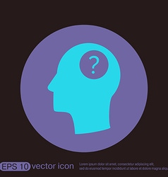 Head with a question mark Avatar wonders Icon help vector image