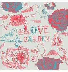 love garden background vector image