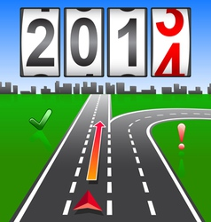 2014 New Year counter vector image