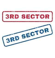 3rd Sector Rubber Stamps vector