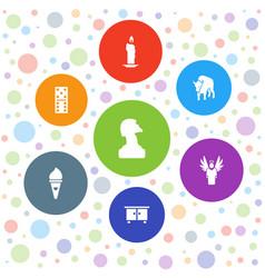 7 logo icons vector