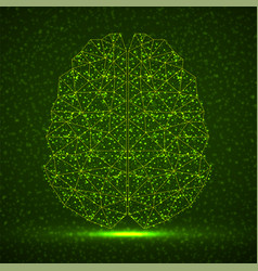 Abstract human brain glowing particles vector