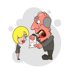 angry boss yelling vector image