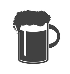 beer in mug icon on white vector image