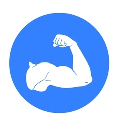 Biceps icon in black style isolated on white vector
