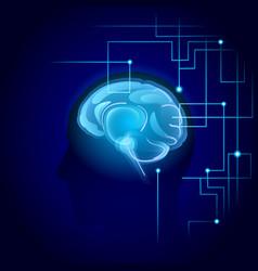 brain neurons activity medicine thinking vector image