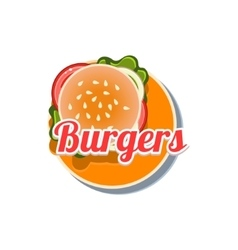 Burger Sticker vector